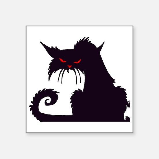 Angry Black Cat Sticker