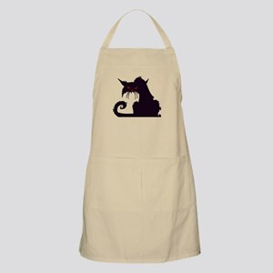 Angry Black Cat Apron