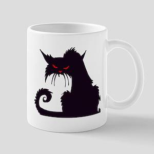 Angry Black Cat Mugs