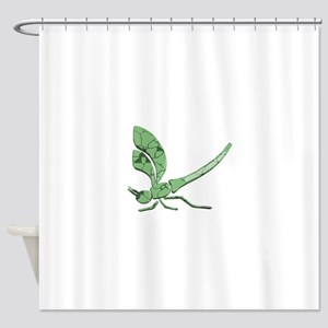 Glass Dragonfly Shower Curtain