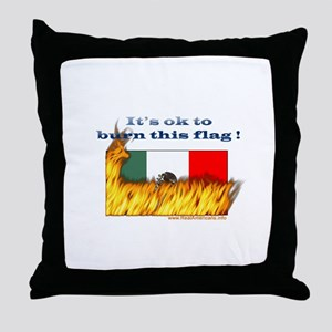 Burn This Flag Throw Pillow
