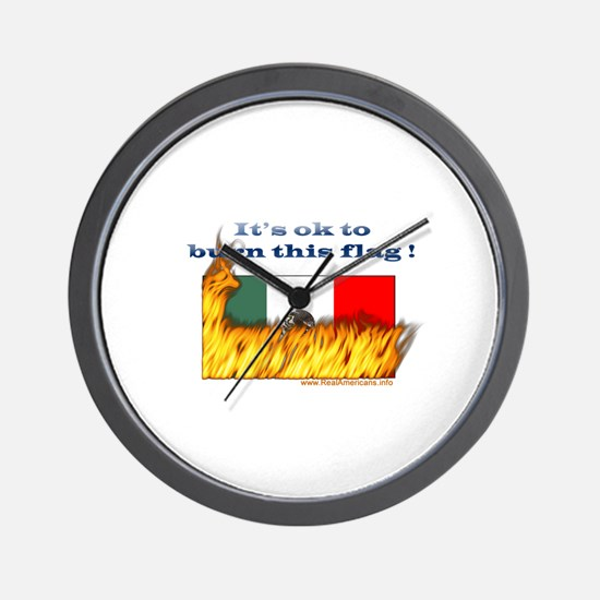 Burn This Flag Wall Clock