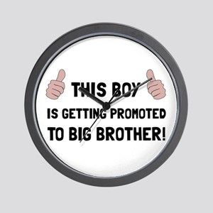 Promoted To Big Brother Wall Clock