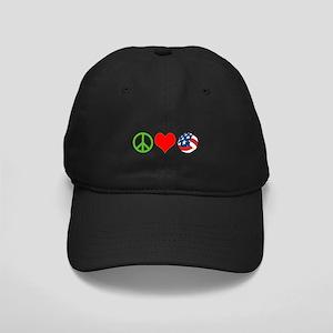 PEACE, LOVE, VOLLEYBALL (USA) Black Cap