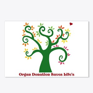 Organ Donation Tree Postcards (Package of 8)
