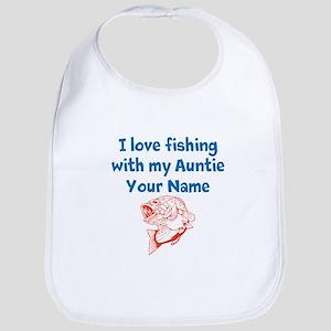 I Love Fishing With My Auntie (Custom) Bib