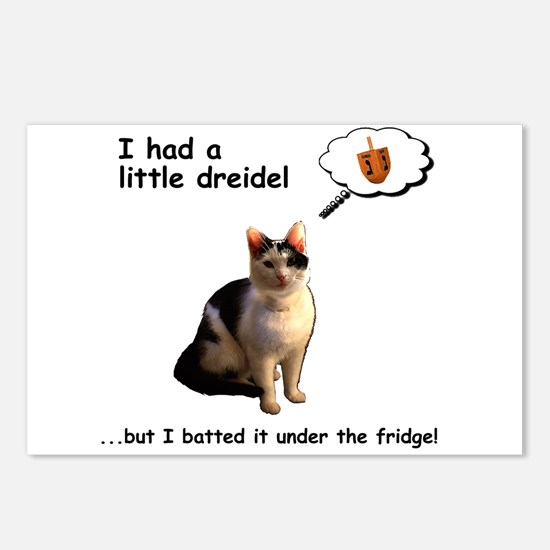 Hanukkah Dreidel Cat Postcards (Package of 8)