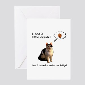 Hanukkah Dreidel Cat Greeting Cards
