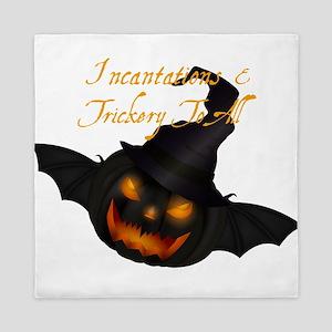 Halloween Pumpkin Witch Queen Duvet