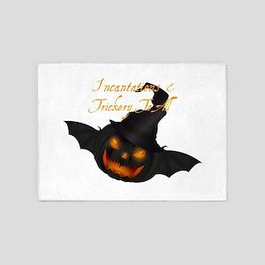 Halloween Pumpkin Witch 5'x7'Area Rug