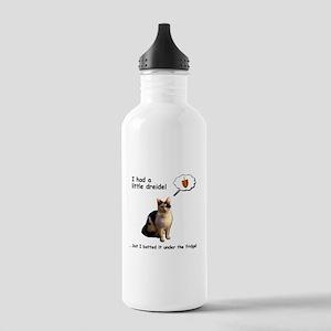 Hanukkah Dreidel Cat Stainless Water Bottle 1.0L