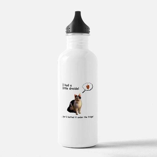 Hanukkah Dreidel Cat Water Bottle