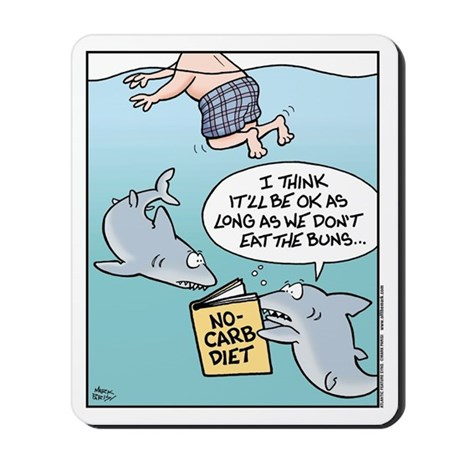 Shark No-Carb Diet Mousepad