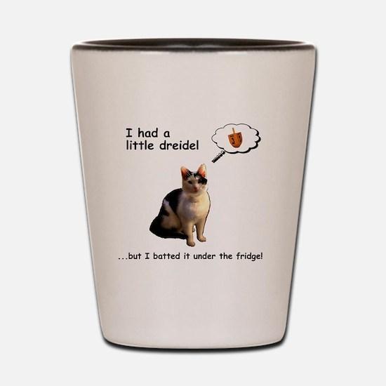 Hanukkah Dreidel Cat Shot Glass