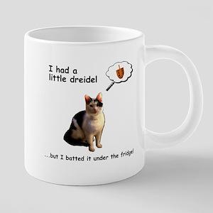 Hanukkah Dreidel Cat Mugs