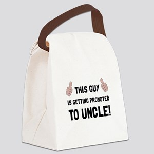Promoted To Uncle Canvas Lunch Bag