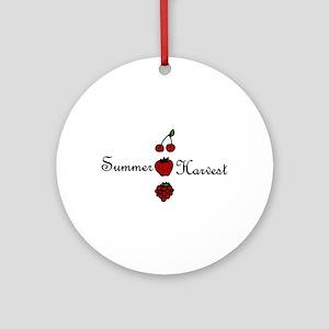 Summer Harvest Ornament (Round)