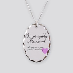 Incorrigibly Bisexual Necklace Oval Charm