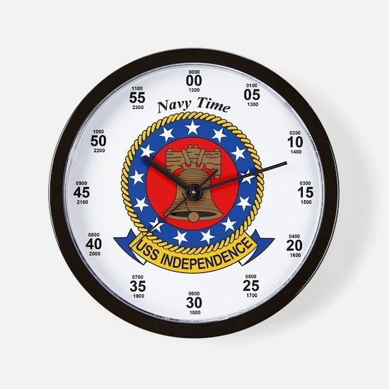 USS Independence CV-62 Wall Clock