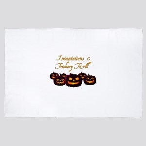 Incantations and Trickery to all Pumpk 4' x 6' Rug