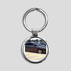 Minivan Round Keychain