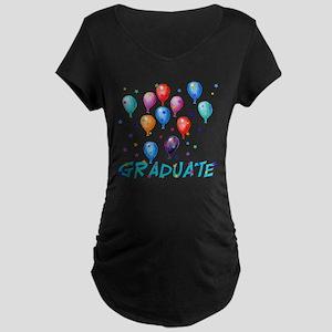 Graduation Balloons Maternity Dark T-Shirt