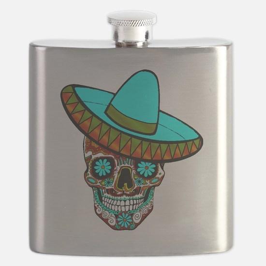 Cute Dia de los muertos Flask
