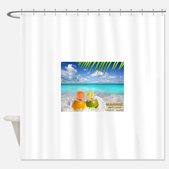 Summertime Beach Shower Curtain