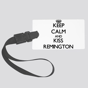 Keep Calm and Kiss Remington Luggage Tag