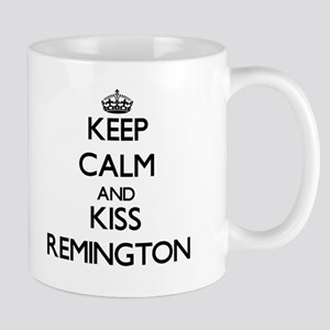 Keep Calm and Kiss Remington Mugs