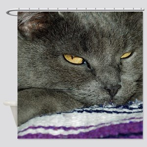 Grace The Gray  Shower Curtain