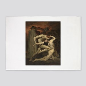 Dante and Virgil in Hell 5'x7'Area Rug