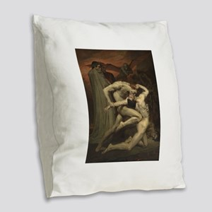 Dante and Virgil in Hell Burlap Throw Pillow
