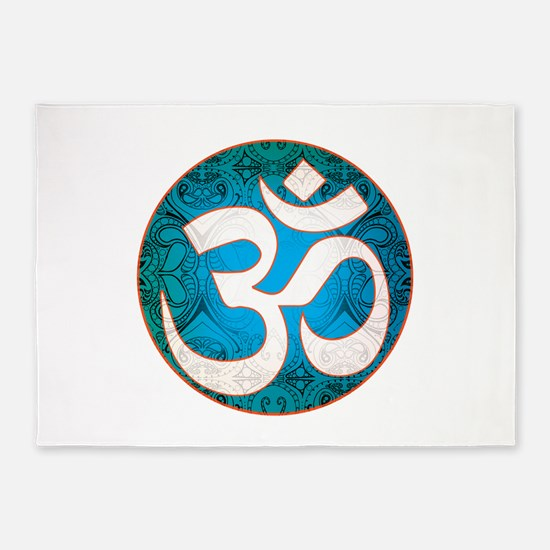 Pause and listen for the ohm 5'x7'Area Rug