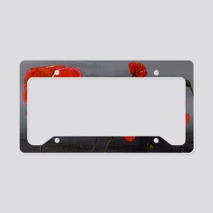 Show Off Poppies License Plate Holder