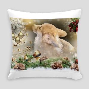 Christmas Corgi Puppy Everyday Pillow