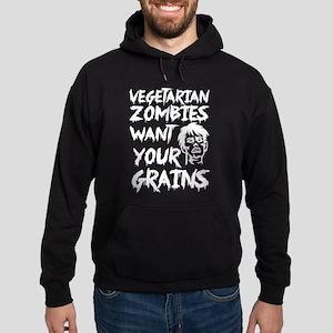 Vegetarian zombie I want your grains Sweatshirt