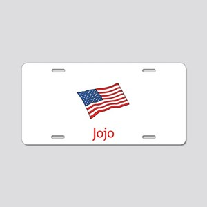 Old Glory Personalized July Aluminum License Plate