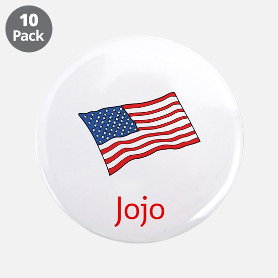 "Old Glory Personalized July 3.5"" Button (10 P"