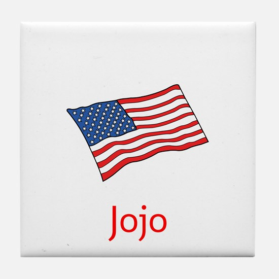 Old Glory Personalized July 4 Pop Tile Coaster