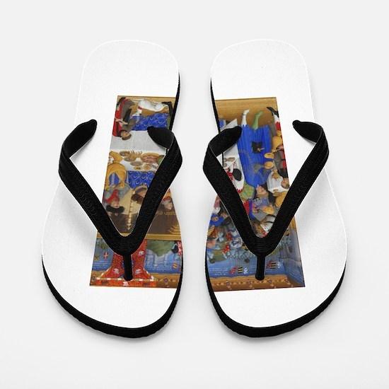 Medieval illustration Flip Flops