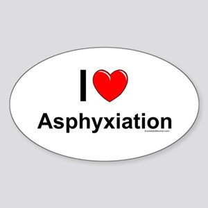 Asphyxiation Sticker (Oval)