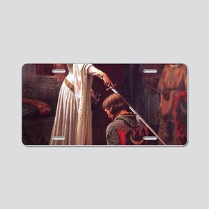 Middle Ages Accolade of Knight Aluminum License Pl