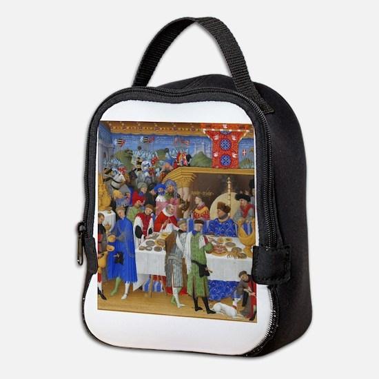 Medieval illustration Neoprene Lunch Bag