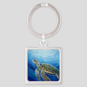 Sea Turtle Square Keychain