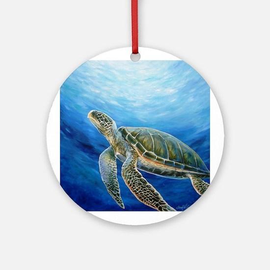 Sea Turtle Round Ornament