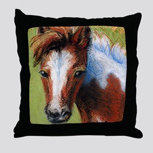 Chincoteague Pony Foal Throw Pillow