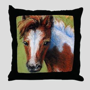 Chincoteague Pony Foal Throw Pillow