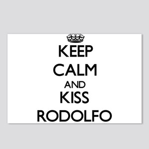 Keep Calm and Kiss Rodolfo Postcards (Package of 8