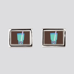 bubble-tea_b Rectangular Cufflinks